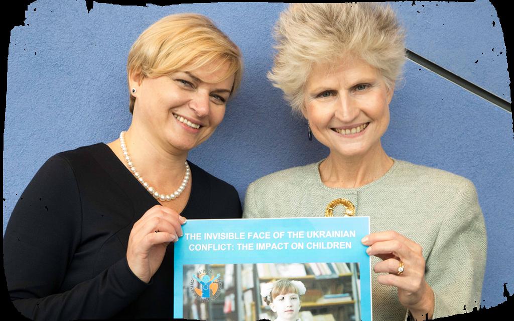 Halyna Postoliuk and MEP Anna Maria Corazza Bildt